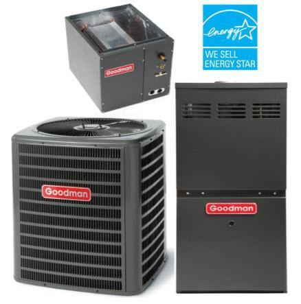 Goodman 4 Ton 2 Stage 18 Seer 100K  80% Variable Fan Gas System, Goodman Complete Gas System - Comfort Depot Gaithersburg