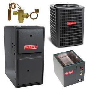 Goodman Complete Gas System Equipment Only Goodman 5 Ton 16 Seer 100K 96% Gas System