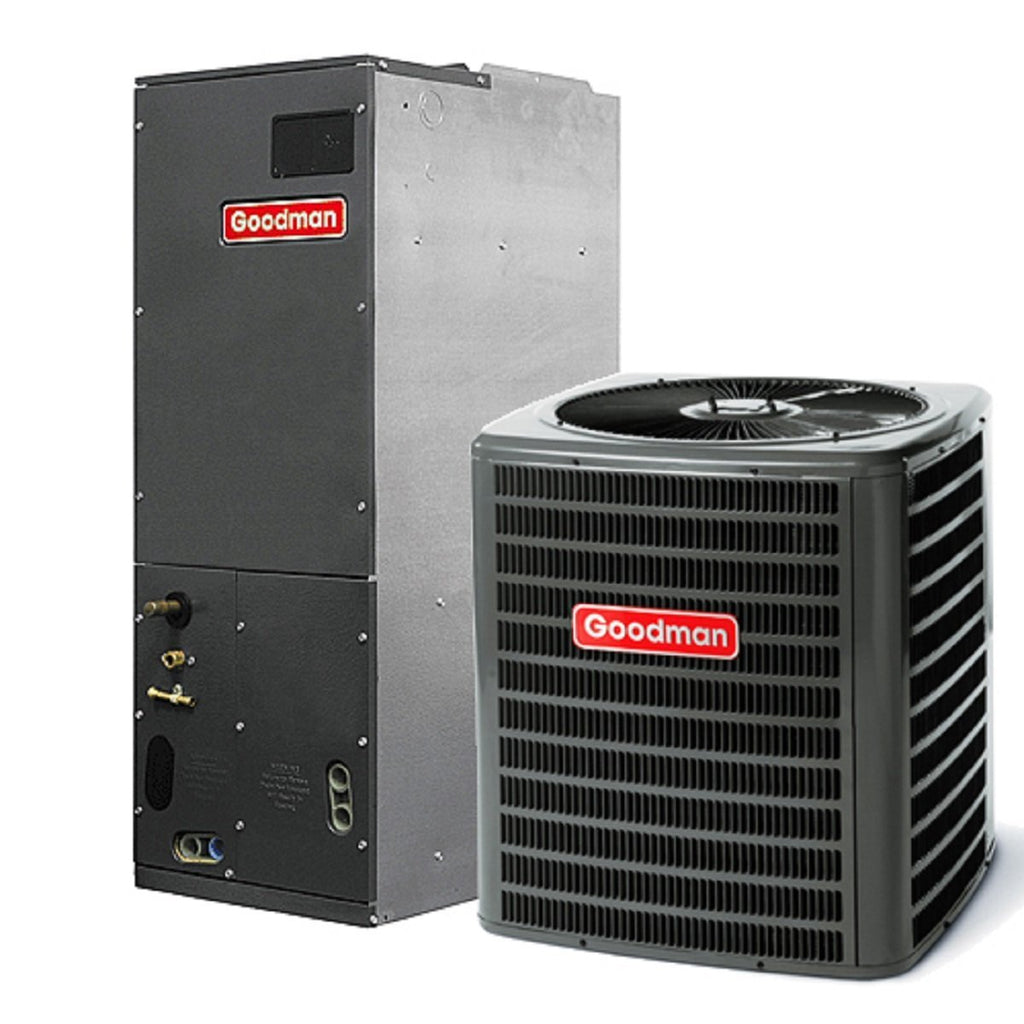 Goodman 14.5 Seer 4 Ton Heat Pump Complete System With Heat Strip, Goodman Heat Pump System - Comfort Depot Gaithersburg