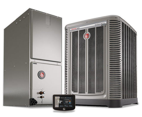 Rheem 2 Ton 17 Seer Variable Fan Invertor Heat Pump System, Heat Pump System - DIY Comfort Depot