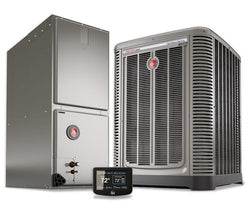 Rheem 3 Ton 17 Seer Variable Fan Invertor Heat Pump System, Heat Pump System - DIY Comfort Depot