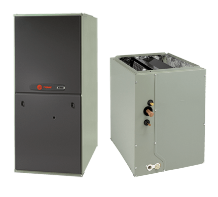 Image of Trane 2 Ton XR14 A/C & XR80% Gas Furnace Installed, Trane Complete Gas System - DIY Comfort Depot