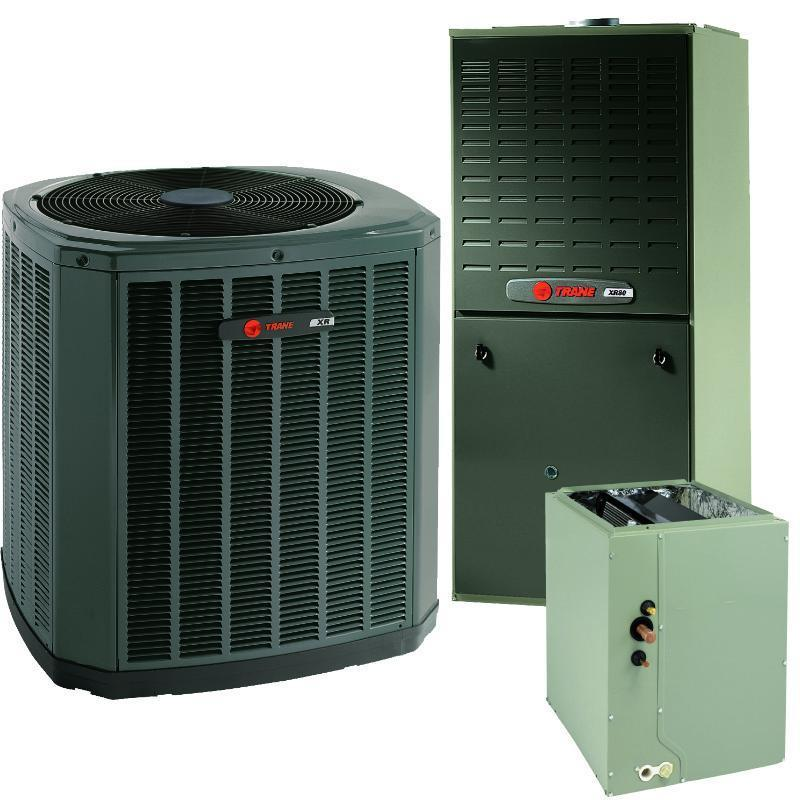 Trane Complete Gas System Equipment & Basic Install Trane 2 Ton XR14 A/C & XR95% Gas Furnace Installed