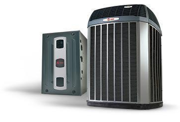 Trane Complete Gas System Equipment & Basic Install Trane 5 Ton XL16i A/C & S9X2 95% Gas Furnace Installed