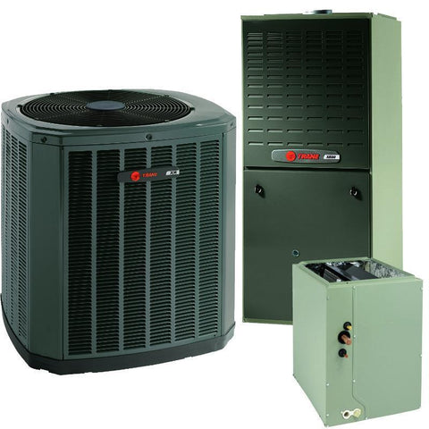 Trane 5 Ton XR16 A/C & XV80% Gas Furnace Installed, Trane Complete Gas System - DIY Comfort Depot