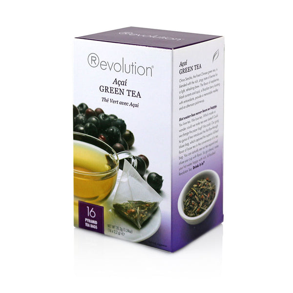 Revolution Acai Green Whole Leaf Tea 16 Pyramid Bags