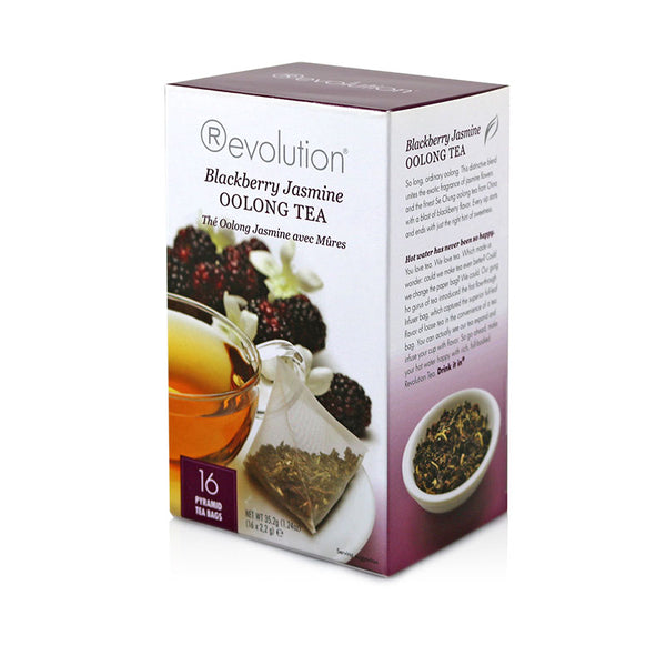 Revolution Blackberry Jasmine Whole Leaf Tea 16 Pyramid Bags