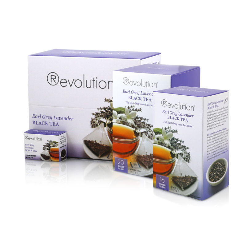 Revolution Earl Grey Lavender Whole Leaf Tea Range
