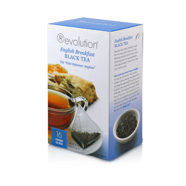 Revolution English Breakfast Black Whole Leaf Tea 16 Pyramid Bags
