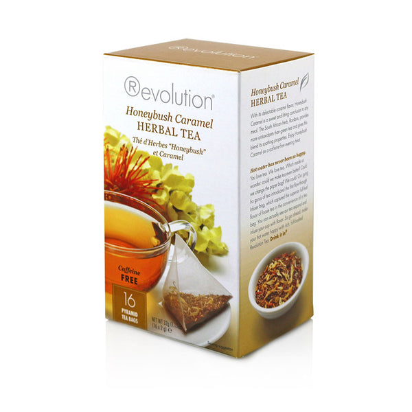 Revolution Honeybush Caramel Herbal Tea 16 Pyramid Bags
