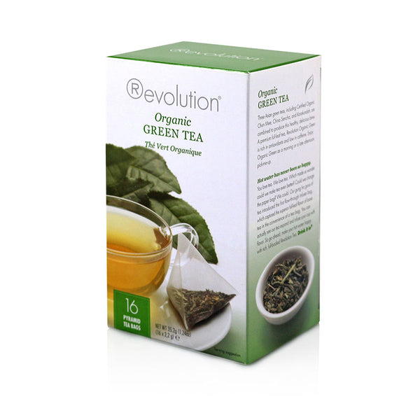 Revolution Organic Green Whole Leaf Tea 16 Pyramid Bags
