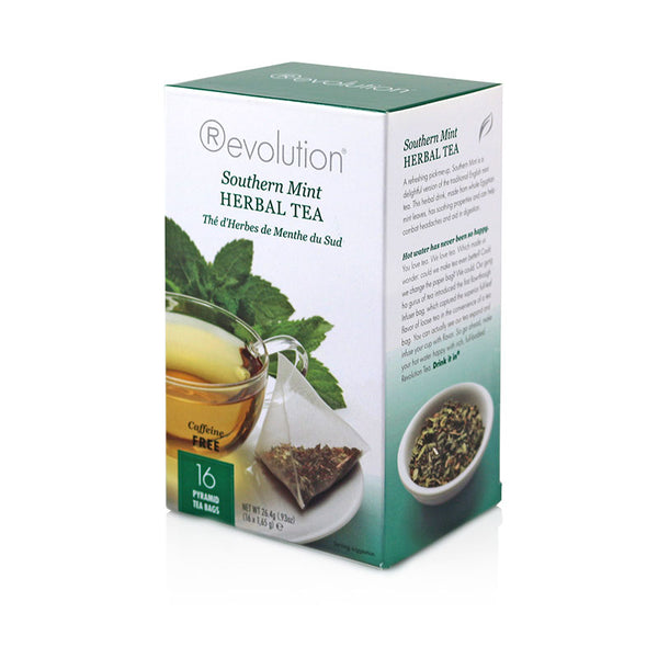 Revolution Southern Mint Herbal Tea 16 Pyramid Bags