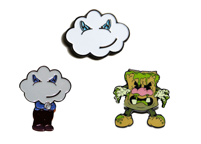 Cloud Kicker Pin Set