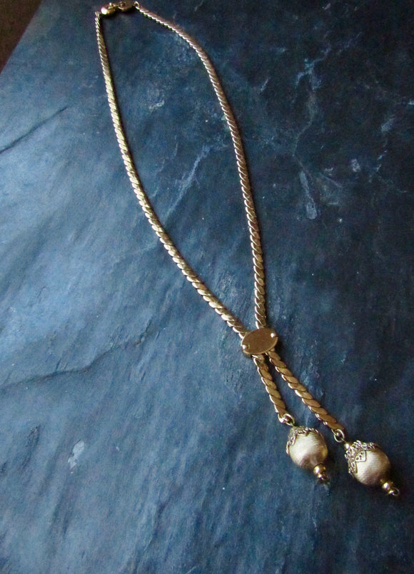 Monet Victorian Beads Gold Necklace