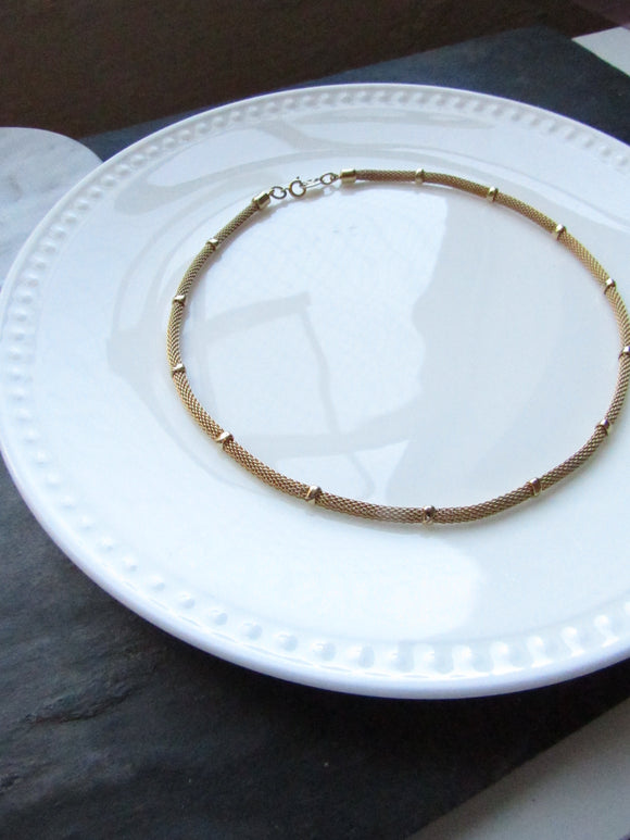 Napier Dainty Thick Cable Chain With Bead Gold Necklace