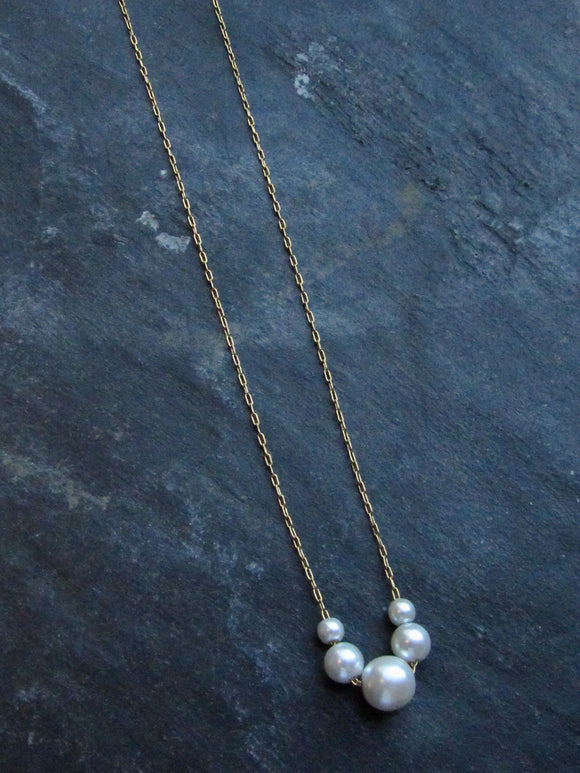 Napier Pearl bead Gold Necklace