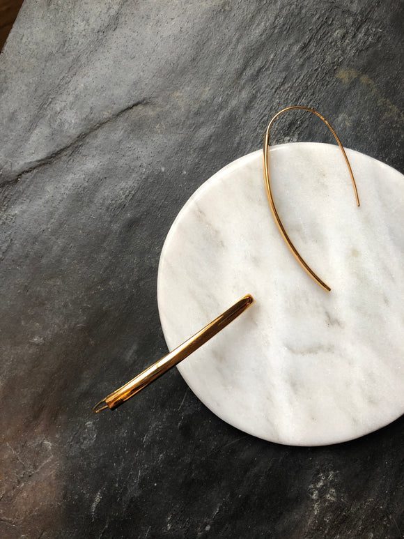 Dainty Thin Half Hoop Earrings