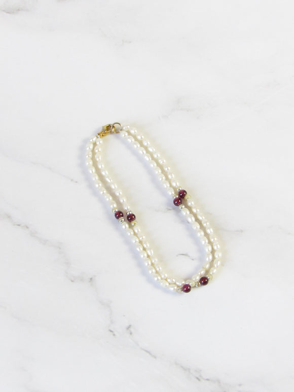 Two Strand Pearl Beads Bracelet