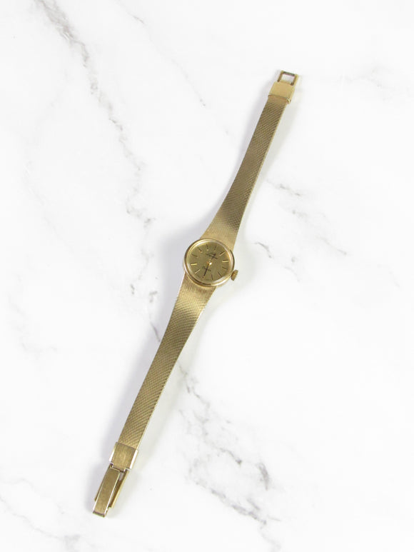 Jules Jurgensen Round Gold Mesh Ladies Watch