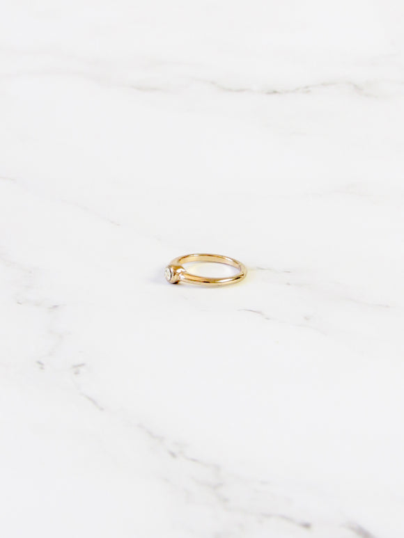 Dainty Gold Pinky Ring