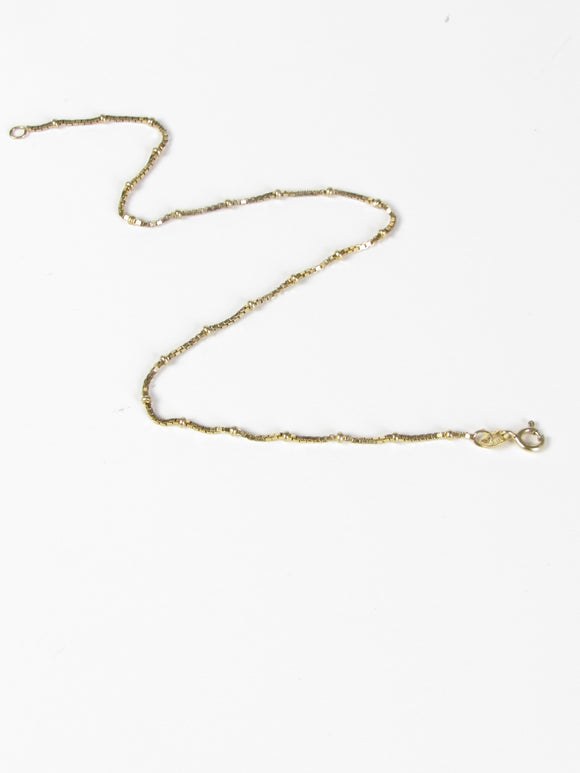 Dainty Thin Gold Vermeil Anklet