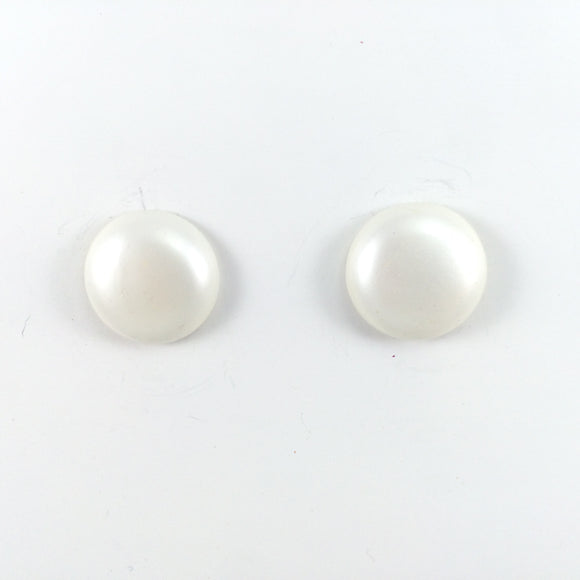 Vintage1980s marked JAPAN bold pearl Clip-On Earrings
