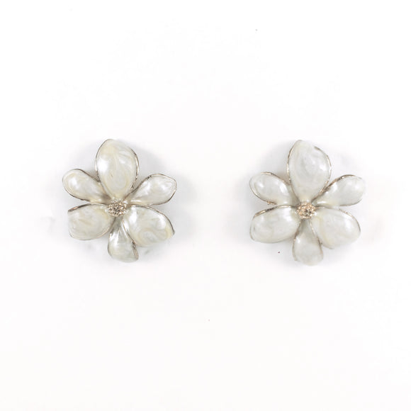 Vintage 90s Floral Pierced Earrings | Holiday Gift