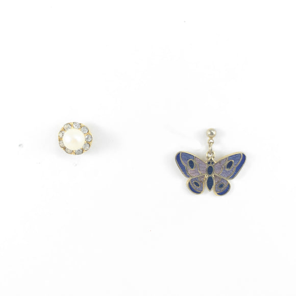 Butterfly Pearl Mix N' Match Earrings Set