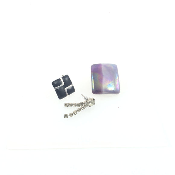 Vintage purple Unicorn Mix &Match Earring set