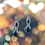 Marilyn Double Teardrops Crystals Chandelier Earrings