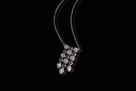 Art Deco Diamonds Nacklace 0.65ct