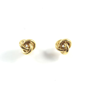 Vintage 60s Signed Napier Classic Knot Clip-on Earrings | Holiday Gift |