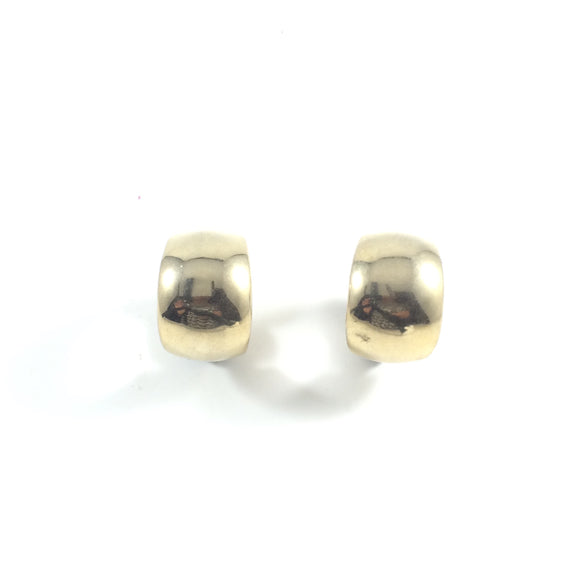 Vintage Bahati Gold Hoops 70' Clip-on Earrings