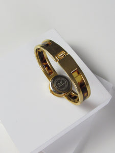 Circle Tortoise Frame Gold Ladies Watch