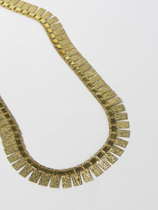 AM DBL Rectangle Gold Choker Necklace