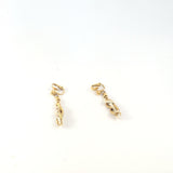 Gold Plated Chains And Pearl Beads Vintage 60s Trifari Earrings