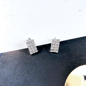 Classic Vintage Old Hollywood Rhinestones Ear Clips