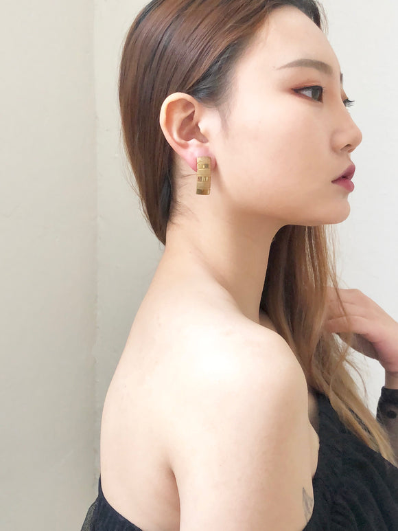Vintage 80s Gold Thick Chain Earrings