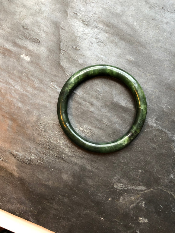 Grade A Dark Green Jade Bangle