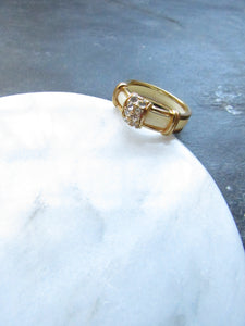 Victorian White Enamel Band Ring
