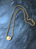 Dotty Smith Seashell Oval Medal Gold Pendant Necklace