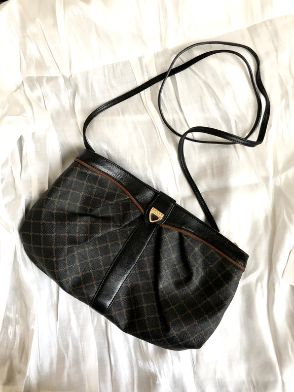 Bally B-Logo Monogram Black Crossbody Bag