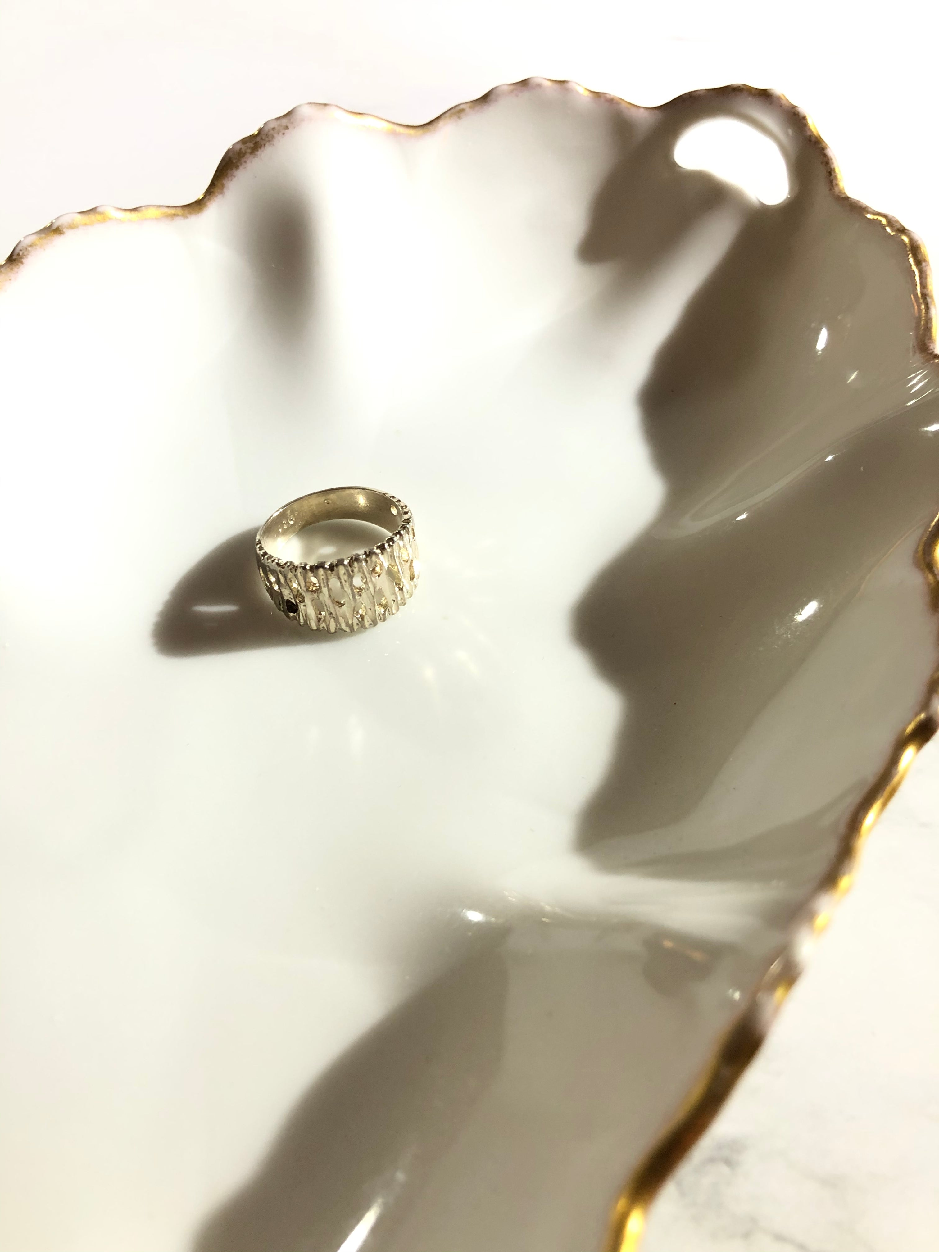 Abstract Hollowed 925 Sterling Silver Ring