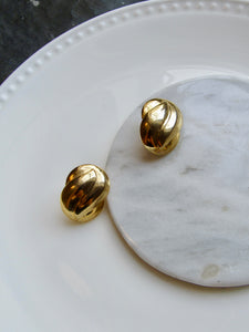 Abstract Gold Statement Earrings