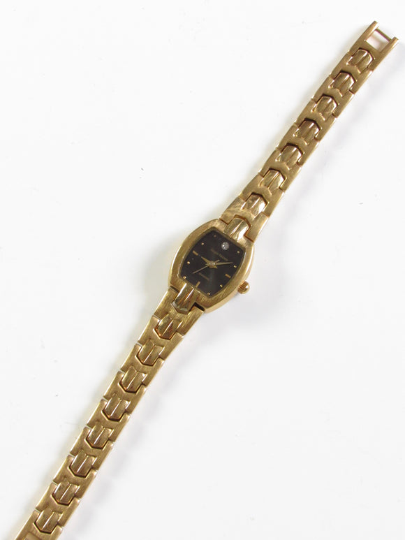 Sergio Valente Diamond Gold Japanese Movement Ladies Watch