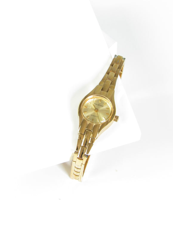 Halston Circle Gold Tone Ladies Watch