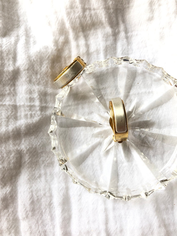 Covered Silver Gold Hoop Earrings