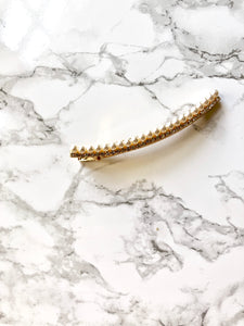 Curve Pearl Beads 14k Gold Plated Hair Clip Barrette