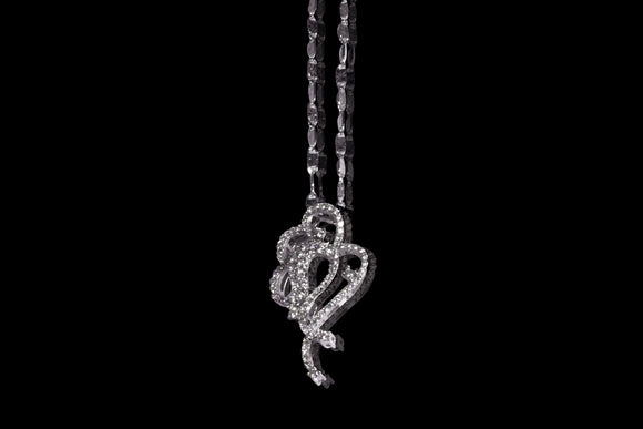 Art Nouveau Inspired Natural Diamonds Nacklace 0.6ct
