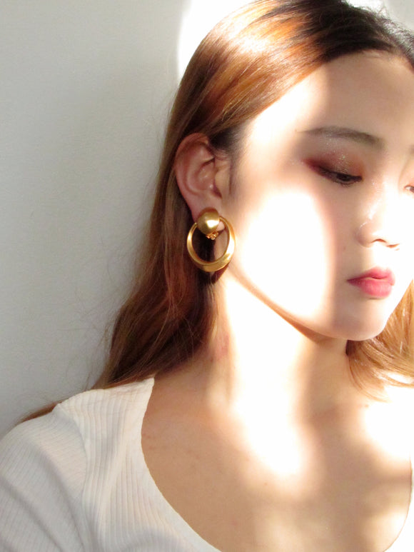 Door Knocker Gold Statement Earrings